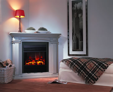 Electric Corner Fireplace Model