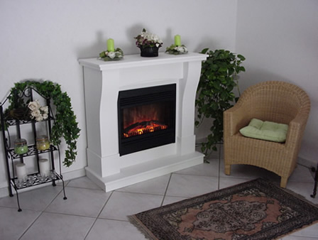 Electric Fireplace white noble Monte Carlo