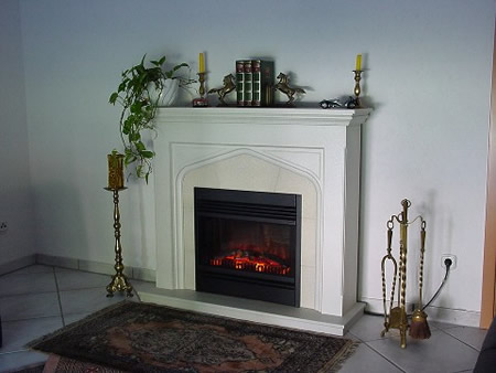 Electric Fireplace white noble Oxford